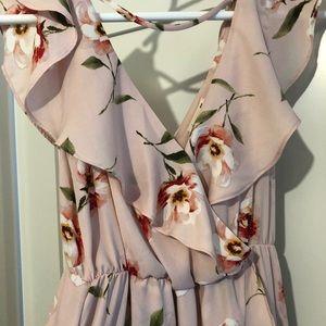 Hi-lo Floral Maxi Dress